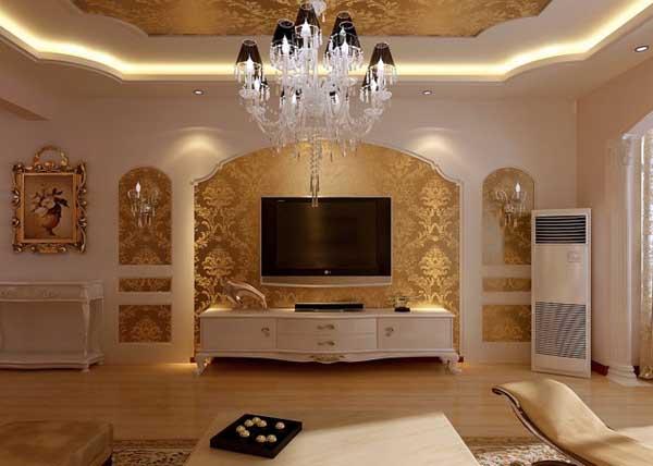 客厅有两个电视背景墙怎么装修效果图