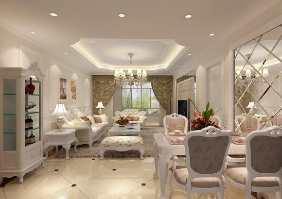 客厅装修欧式效果图