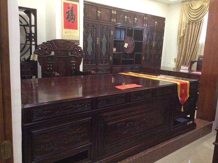 红木办公台家具