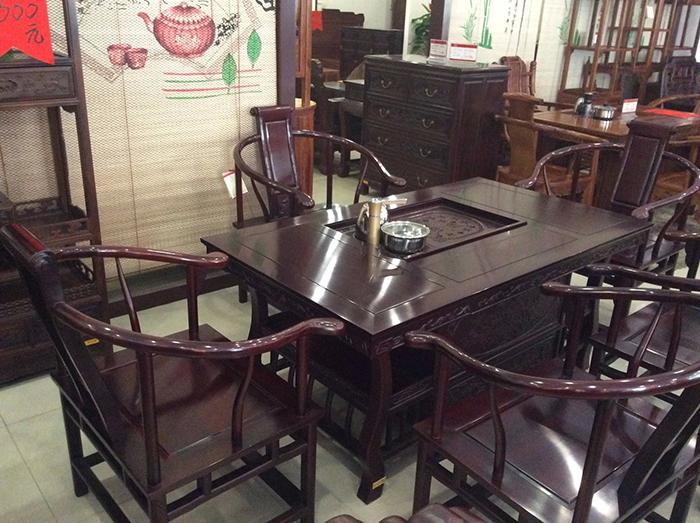 红木中式仿古茶台