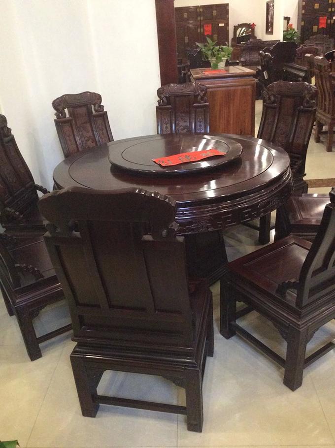 明式红木餐桌