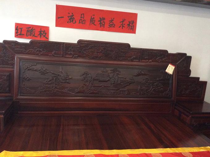 南宁红木床铺
