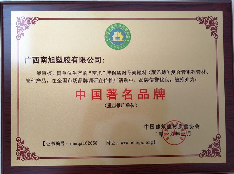 中国著名品牌(牌匾)钢丝网骨架