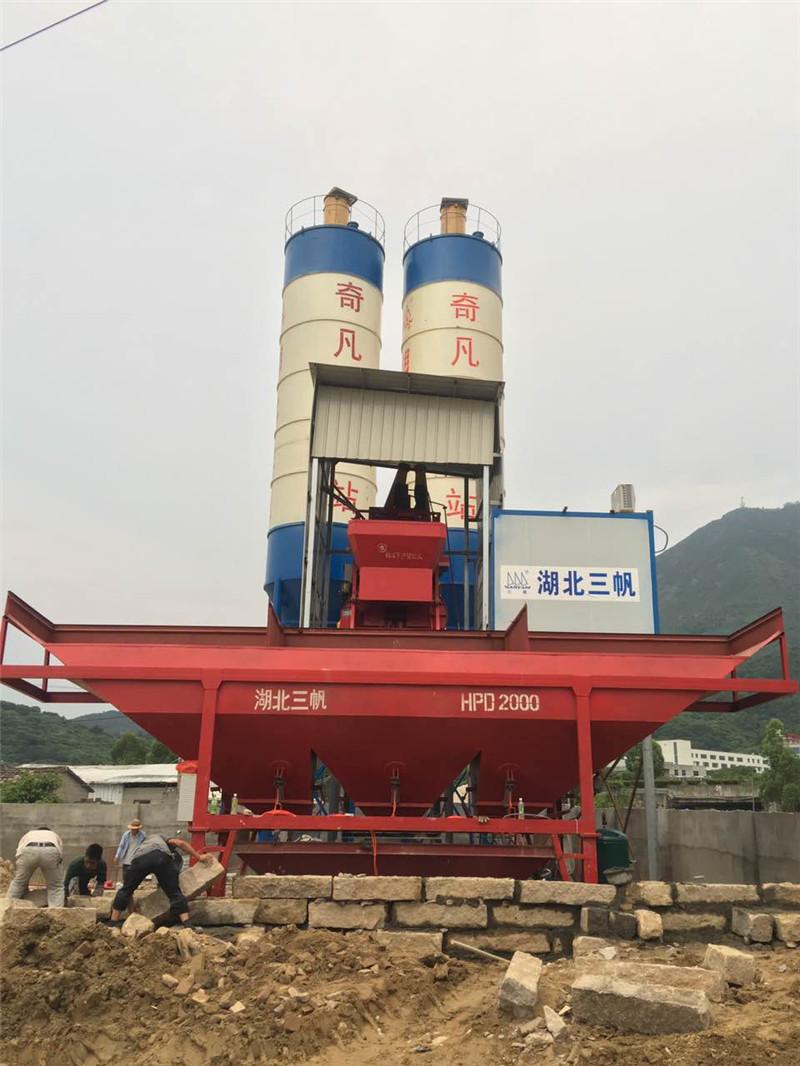 廣西湖北金山混凝土攪拌站 Hubei Jinshan concrete mixing station
