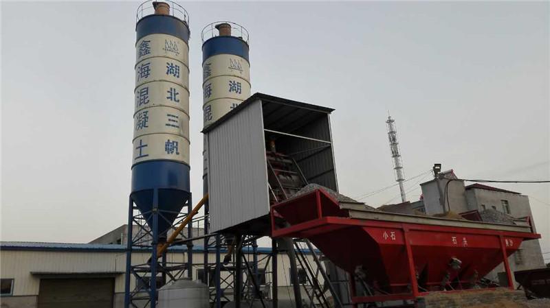 廣西湖北京山縣羅店鎮HZS60混凝土攪拌站 Hubei Jingshan County, Luo Zhen HZS60 concrete mixing station