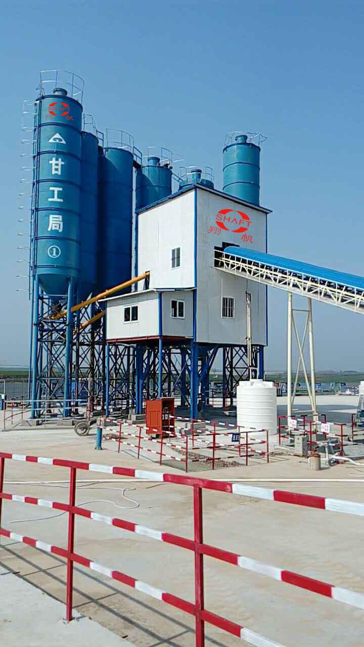 廣西0122   丹江-大悟飲水工程二標段HZS120攪拌站(HZS120 concrete mixing station)