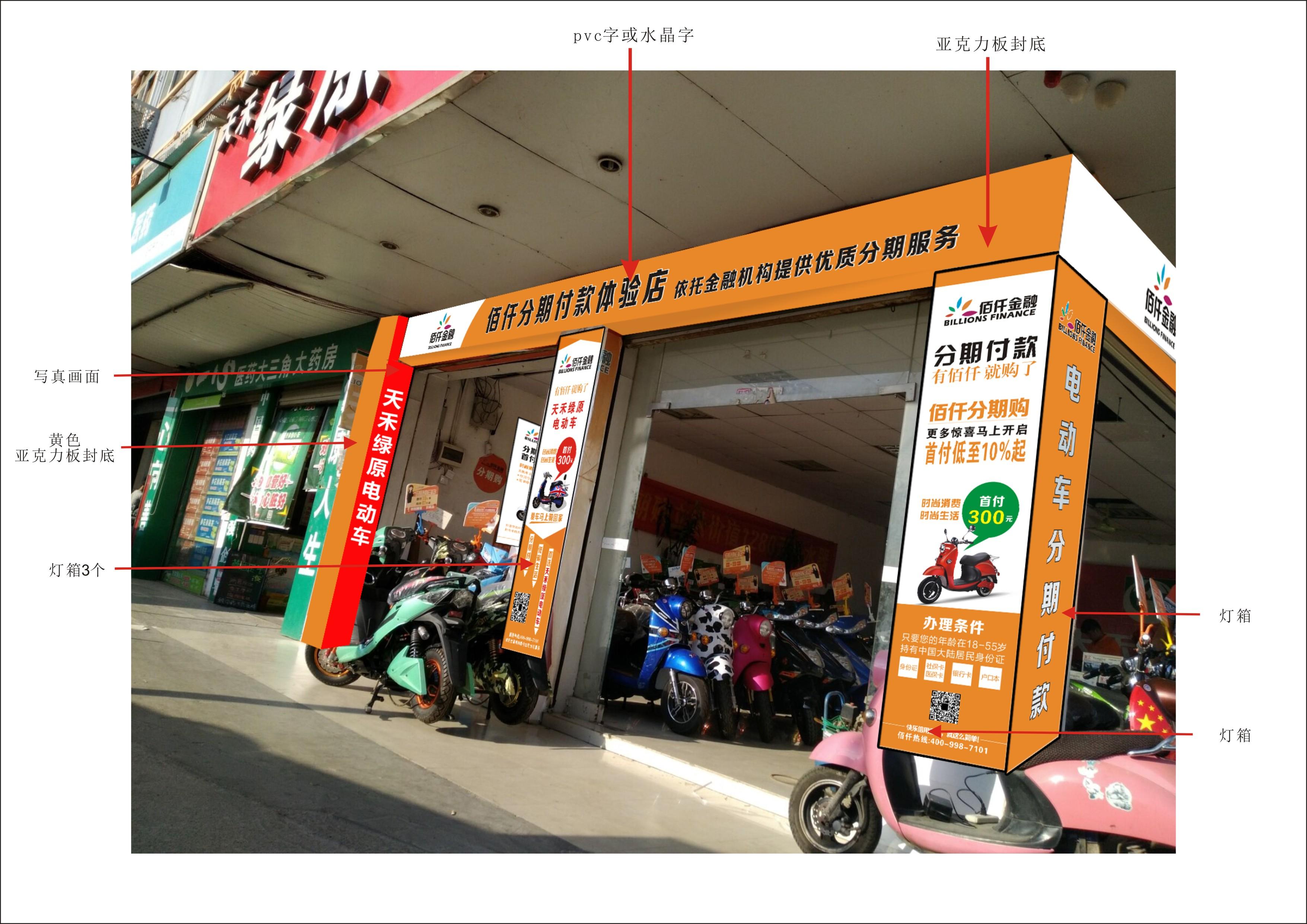 梧州佰仟金融店招牌