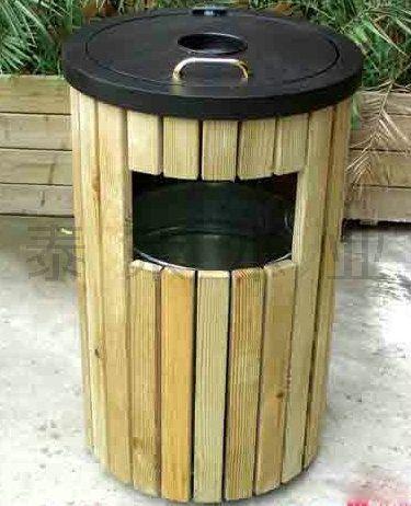 钦州防腐木垃圾箱