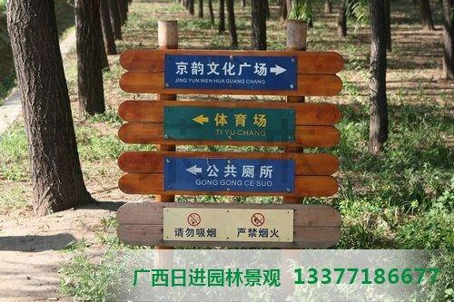 南宁防腐木指示牌