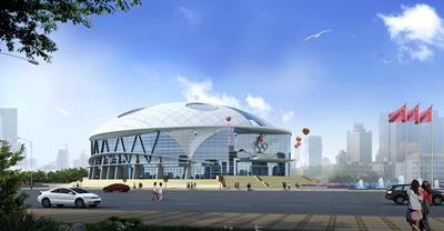 廣西河池市鳳山體育館透視