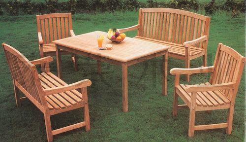 河池防腐木桌椅