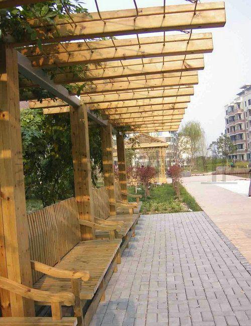 河池木质廊架