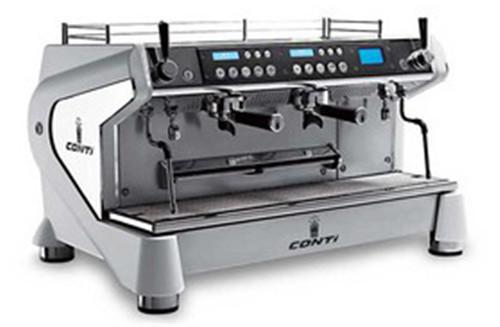 百色半自动咖啡机-Conti-Monte-Carlo-2头-白色