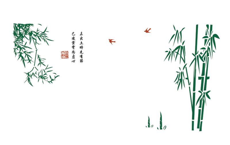硅藻泥竹报平安图