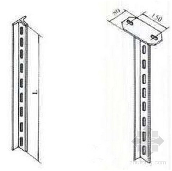 丁字钢立柱