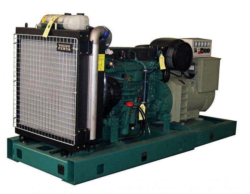 沃尔沃发电机侧面展示图