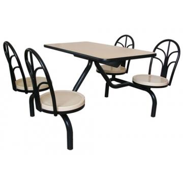 南宁四人座连体餐桌椅