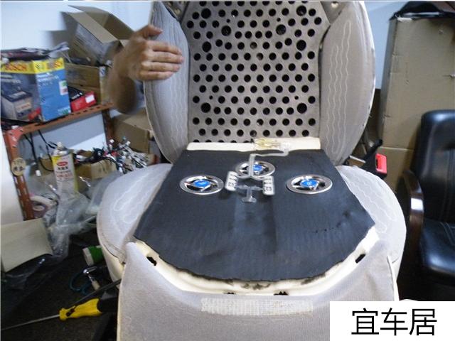 奥迪S8通风座椅改装