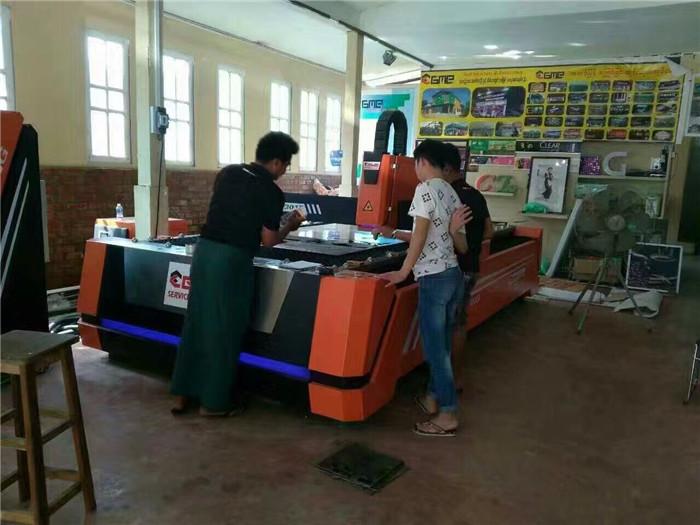鑫全利光纤切割机落户缅甸GME公司