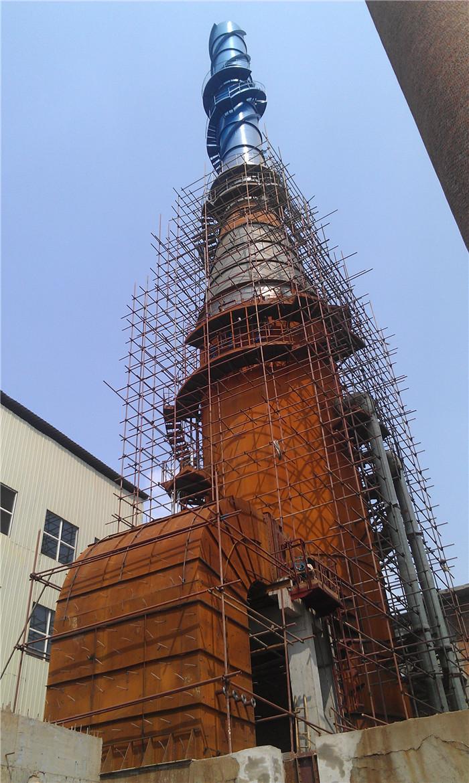 我公司2010年承接的钦州新合力冶金公司66M2烧结机烟气脱硫系统工程,建筑面积800m2、烟塔合一高度为60米。.jpg