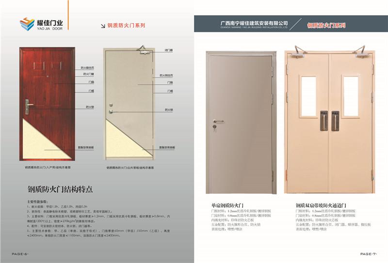 贺州钢木质门
