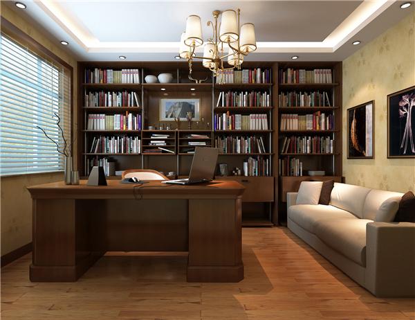 崇左书房装修案例