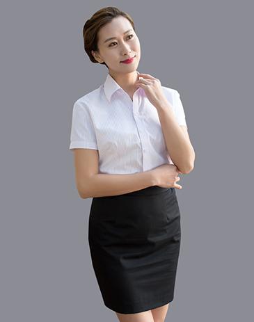 女式职业短袖衬衫