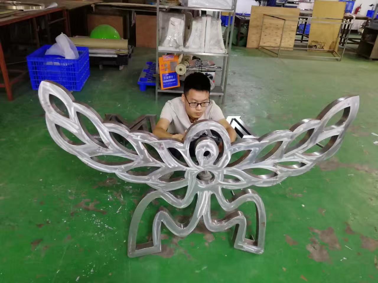 广州精工不锈钢背发光字