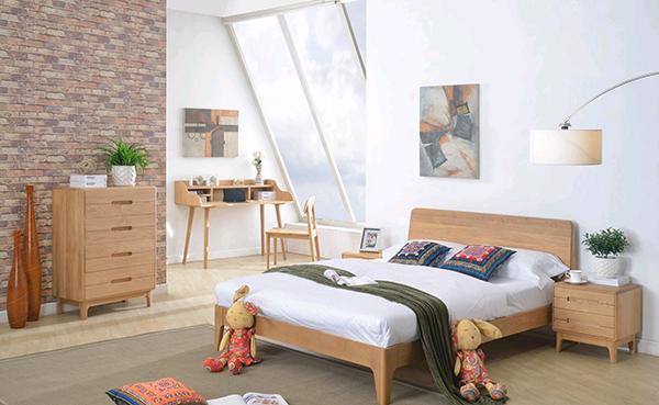 实木卧室家具效果图