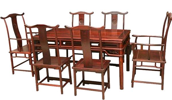 中式实木餐桌椅
