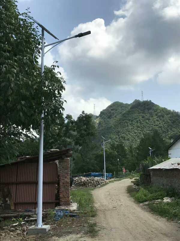 西藏路灯安装工程案例