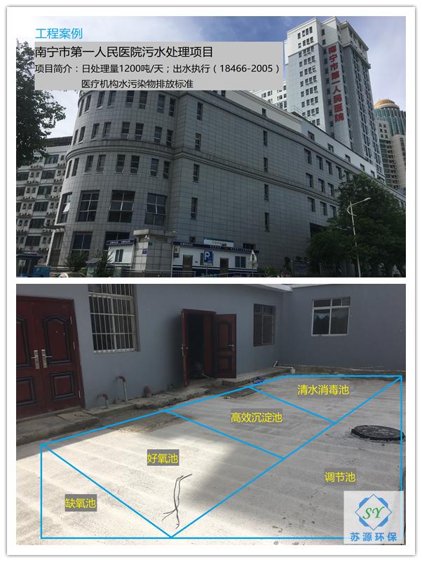 南寧市第一人民醫院污水處理項目