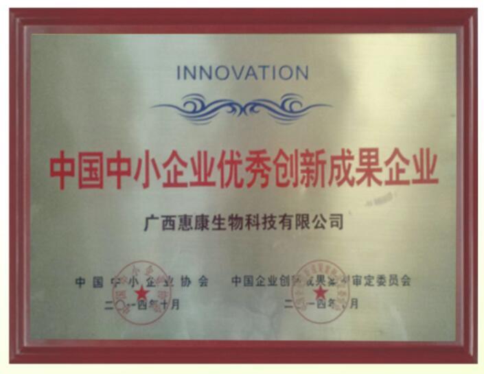 中國中小企業優秀創新成果企業