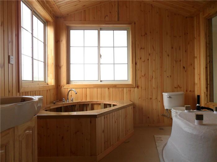 北海木屋浴室效果
