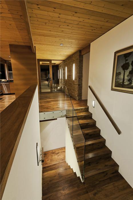 北海木屋楼梯效果