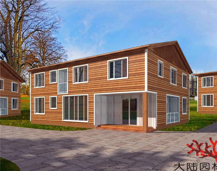 北海园林防腐木屋设计
