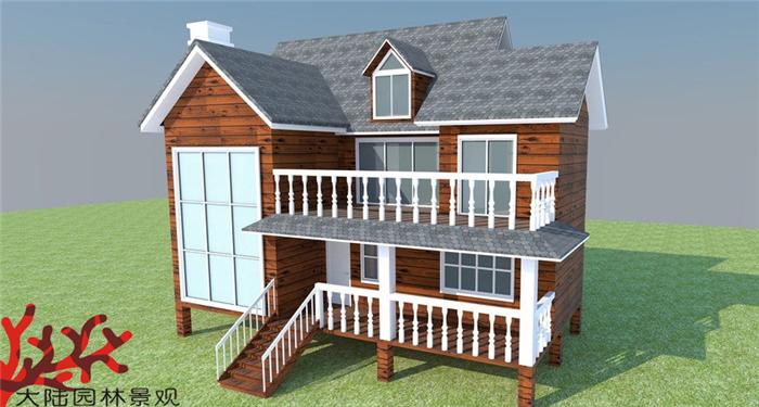 北海防腐木屋设计模型