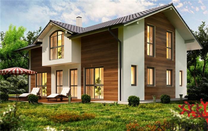 别墅防腐木屋设计