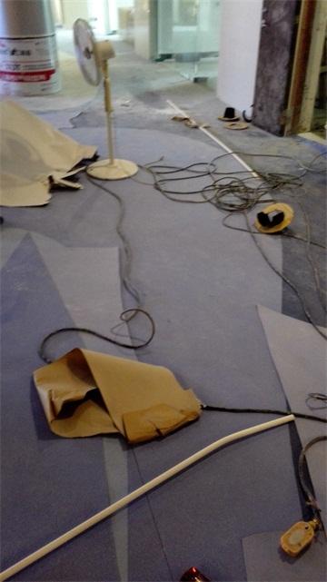 桂林塑胶地板施工