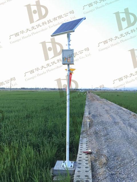 南宁市横县农业局示范区虫害绿色防控太阳能杀虫灯