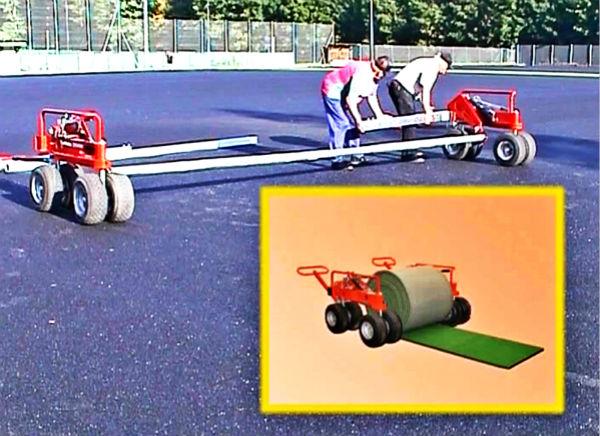 进口人造草坪安装车