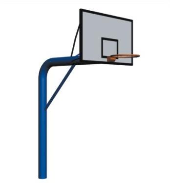 预埋式篮球架(板材篮板)