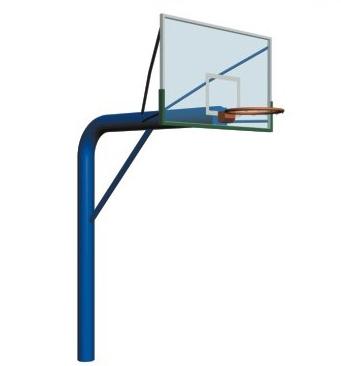 预埋式篮球架(钢化玻璃篮板)