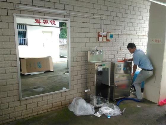 田阳县某部队-商务机纯水机+开水机安装调试