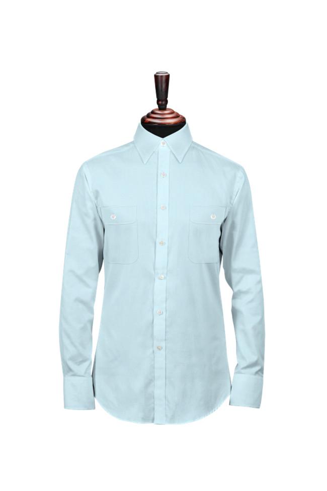 淺藍男士襯衫定制