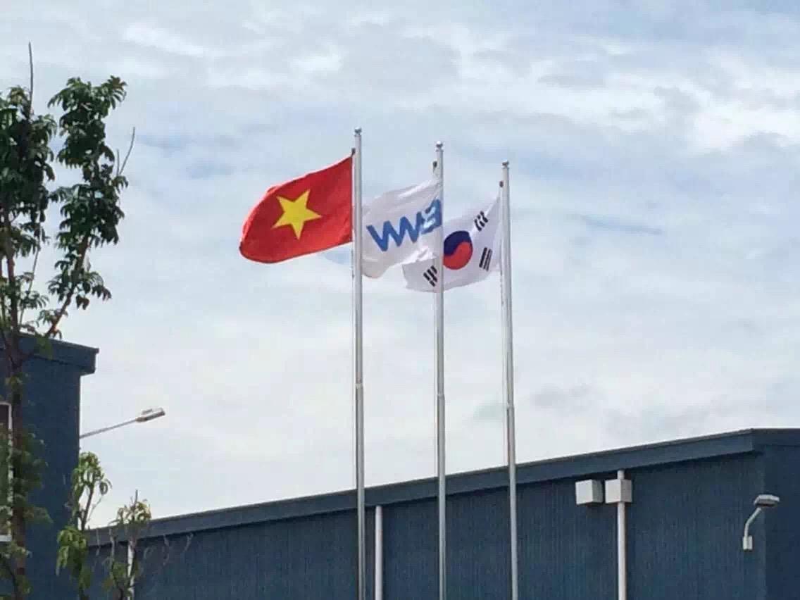 越南河内光伏厂房10匹风冷机项目