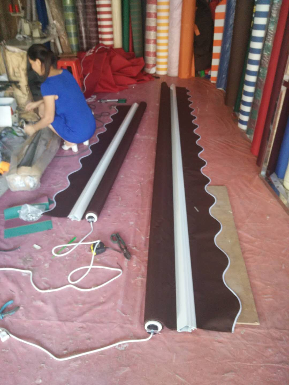 曲臂式遮阳篷制作