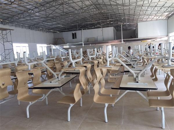 玉林食堂餐桌椅批发案例