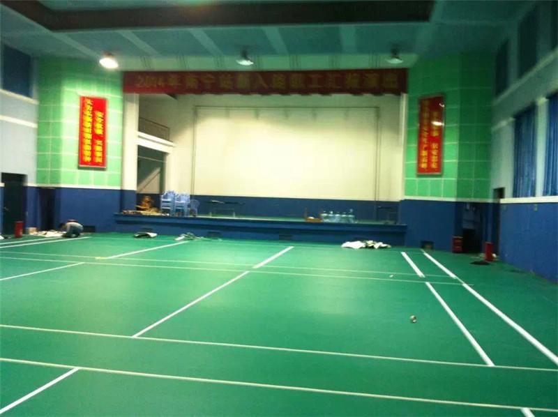PVC运动地胶羽毛球场