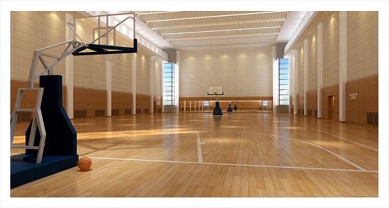 运动篮球场木地板